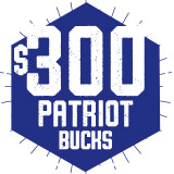 $300 Patriot Bucks